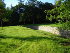 Dry stone wall completed - Wicklow