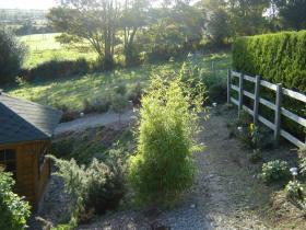 Landscape gardening hillside garden